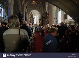 spitz an der donau mass at thanksgiving in the church of st stock