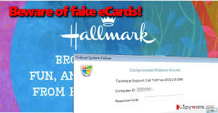 remove hallmark ecard tech support scam virus free instructions