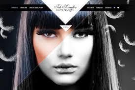 makeup artist websites tekkuaför one page website award