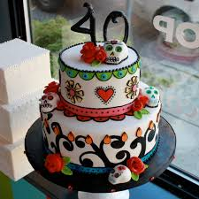 birthday cakes for halloween 40th day of the dead cake cake creations pinterest cake