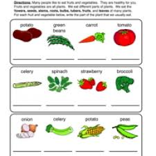 edible parts of a plant parts of a plant worksheet 2 science