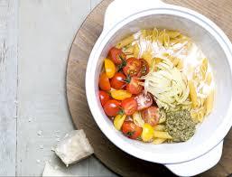 recette cuisine femme actuelle one pot pasta tomates cerises et pesto recettes les recettes