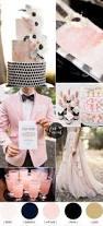 black and blush pink wedding romantic wedding color scheme