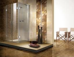 River Rock Bathroom Ideas Stone Bathroom Designs Varnished Wood Wall Mirror Frame Bronze