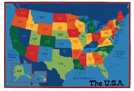 Kids World Map by Carpets For Kids Value Plus Usa Map Tufted Area Rug U0026 Reviews