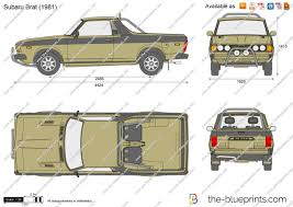 1987 subaru brat the blueprints com vector drawing subaru brat