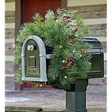 lighted mailbox swag garden outdoor