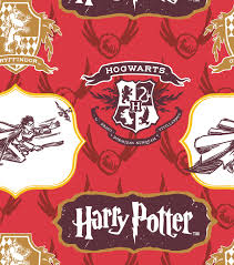 harry potter cotton fabric 44 crest and logo joann