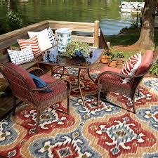 Outdoor Patio Rug Mohawk Home Mystic Ikat Indoor Outdoor Rug Multi Colored