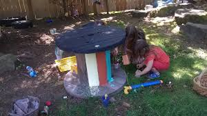 making a play table from an electrical spool right from the start