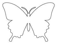 butterfly pattern use the printable outline for crafts creating