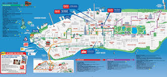 New York Bus Map by Map Of New York City World Map