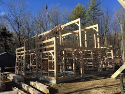 raising a post u0026 beam kit in new hampshire the barn yard u0026 great
