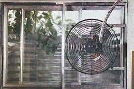 basement window exhaust fan