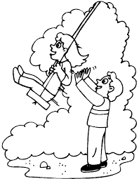swings coloring pages getcoloringpages com