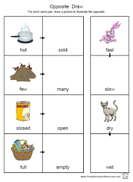free printable opposites worksheets packet for preschool