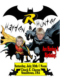 Batman Birthday Meme - batman robin running personalized photo birthday invitations
