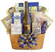 gift baskets with wine golden chardonnay wine gift basket by pompei baskets