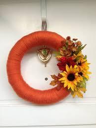 Thanksgiving Wreath Craft Best 25 Fall Yarn Wreaths Ideas On Pinterest Pumpkin Wreath