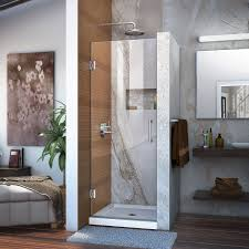 dreamline unidoor 30 in width frameless hinged shower door 3 8