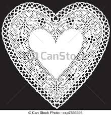 heart shaped doilies vectors of antique white lace doily heart vintage heart shaped