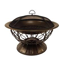 hampton bay quadripod 26 in round fire pit ft 51161 the home depot