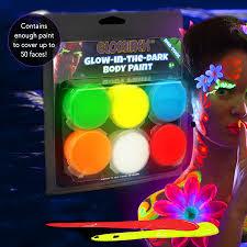 glow paint glow paint 6 pack paint assorted colors blacklight