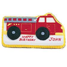 firetruck cake truck cake wilton