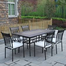 ceramic top dining room tables ceramic patio table gorgeous tile top outdoor dining table dining