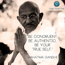 authentic self gandhi quote yogatraveltree