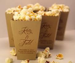 popcorn wedding favors wedding favor box mini popcorn box custom printed metallic