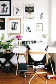 decorations chic home office black desk chair with gold accents