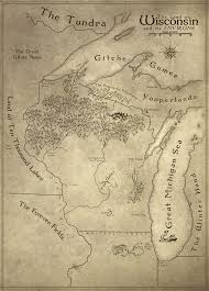 Nyu Map Fantastic Fantasy Style Map Of Wisconsin