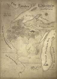 Fantasy Map Fantastic Fantasy Style Map Of Wisconsin