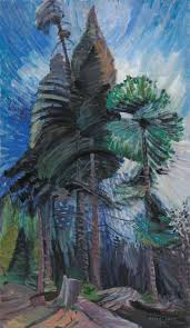 wind art emily carr wind in the tree tops 1939 trivium art history
