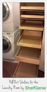 shelfgenie glide outs in that extra space next to your washer