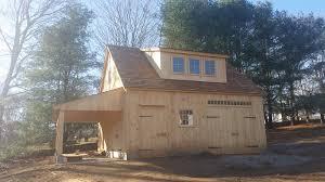 Quaker Barn Home Designs Our 24 U0027x 24 U0027 One Story Post U0026 Beam Barn With Loft Open Lean To