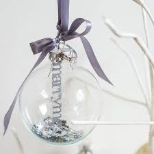 personalised papercut glass bauble glass baubles and