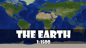 map of erth the recreation of the earth 1 1500 scale version2 1 minecraft