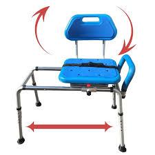 gateway premium sliding bath transfer bench with swivel seat