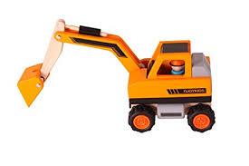 amazon com njoykids excavator wooden toy set toys u0026 games