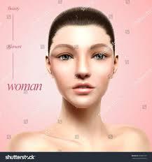 charming model portrait woman beautiful stock vector