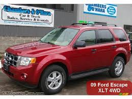Ford Escape Horsepower - 2009 ford escape xlt v6 4wd in sangria red metallic a56623