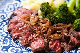 cuisine steak hanger steak with shallots recipe simplyrecipes com