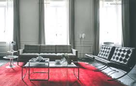 florence knoll sofa barcelona chairs tulip side tables