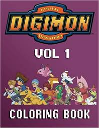 amazon digimon coloring book kids adults 40