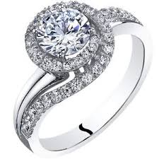 cubic zirconia engagement rings white gold oravo 14k white gold cubic zirconia engagement ring 1 00 carat