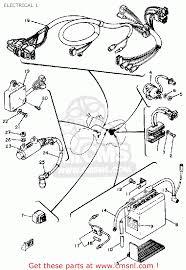 yamaha sr185 1981 usa electrical 1 schematic partsfiche