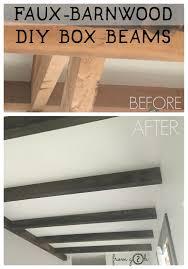 from gardners 2 bergers faux barnwood diy box beams