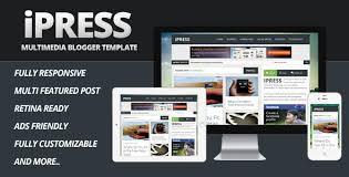 templates v1 blogger ipress multimedia blogger template by fosterzone themeforest
